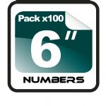 "6"" Race Numbers - 100 pack"